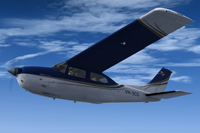 Screenshot of Cessna Centurion C210 VHSCG in flight.