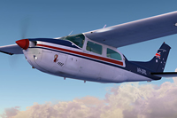 Screenshot of Cessna Centurion C210T VH-SRL in flight.