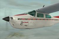 Screenshot of Cessna Centurion C210T ZK-MRI in flight.