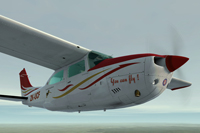 Screenshot of Cessna Centurion C210T ZK-UCF in flight.
