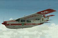 Screenshot of Cessna Centurion T210 in flight.