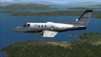 Screenshot of Cessna Citation 500 N501GR in flight.