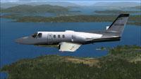 Screenshot of Cessna Citation 500 N501GR in flight.