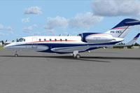 Screenshot of Cessna Citation X on the ground.