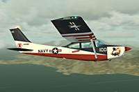 Screenshot of Cessna Skylane C182 RG II Red Belle in flight.