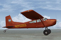 Screenshot of Cessna Skywagon C185F Tundra in flight.