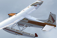 Screenshot of Cessna Skywagon C185F ZK-FSH in flight.