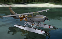 Screenshot of Cessna Stationair N8185Q on the water.