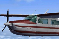 Screenshot of Cessna T210 PP-ALV in flight.