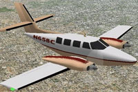 Screenshot of Cessna T303 Crusader in flight.