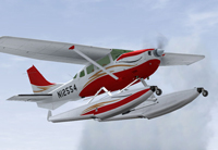 Screenshot of Cessna U206G Stationair Float in flight.
