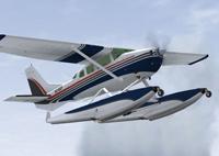 Screenshot of Cessna U206G Stationair Float in flight.
