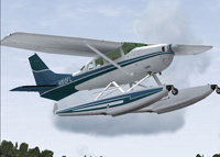 Screenshot of Cessna U206G Stationair Float N910FL in flight.