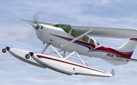 Screenshot of Cessna U206G Stationair in flight.