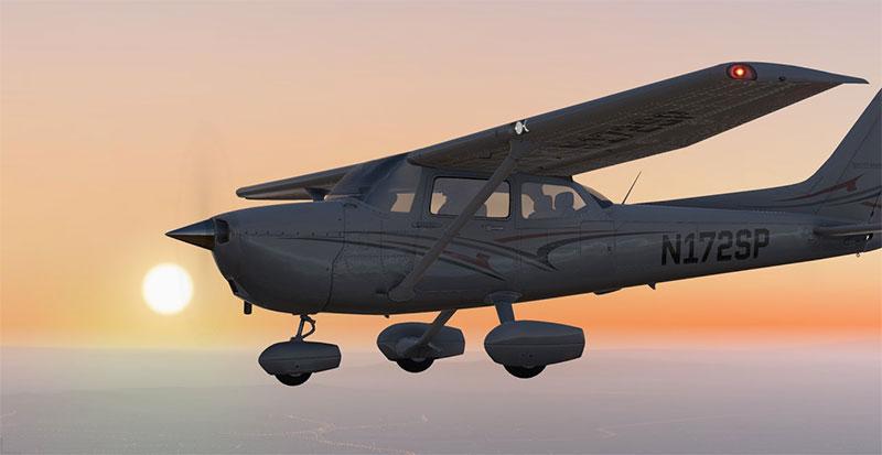 Cessna 172 in X-Plane 11.