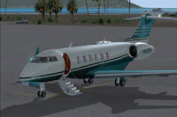 Screenshot of Challenger 300 N632FW on the ground.