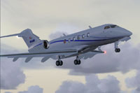 Screenshot of Challenger 300 in flight.