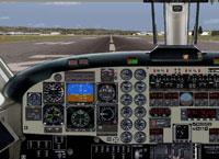 Screenshot of Beech B1900D panel.