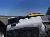 Screenshot of DeHavilland DHC-2 panel.
