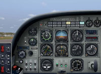Screenshot of Default Cessna 208B panel.