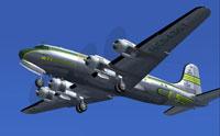 Screenshot of DC-4 in flight.