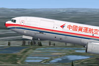 Screenshot of China Cargo Airlines McDonnell Douglas MD-11 in flight.
