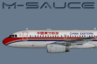 Profile view of China Eastern Airbus A319.