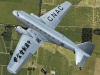 Screenshot of China National Aviation Corporation Douglas DC-2 in flight.