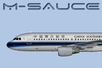 Side view of China Southern Airbus A320 CFM.