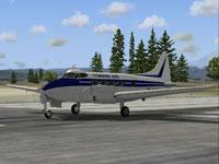 Screenshot of Cimber Air DeHavilland DH104 Dove on runway.