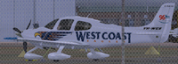 Screenshot of Cirrus SR22 VH-WCE on the ground.