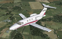 Screenshot of Citation 510 Mustang PR-VDL in flight.