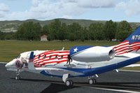 "Screenshot of Citation X ""Wounded Warrior"" preparing for take-off."