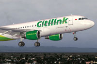 Screenshot of Citilink Airbus A320-200.