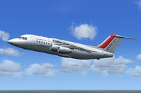 Screenshot of CityJet BAe 146-200 in flight.