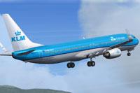Screenshot of Cityhopper Boeing 737-900 taking off.