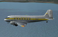 Screenshot of Classic Aeroservices VA DC-3 in flight.
