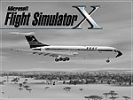 Black and white Splash Screen showing a classic airliner in flight.