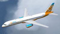 Screenshot of Cloud9 Virtual Airlines Boeing 757-200WL in flight.