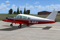 Screenshot of College Of Air Training Piper Cherokee on runway.