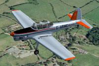 Screenshot of De Havilland Chipmunk in flight.