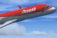"Screenshot of ""OceanAir"" Comac ARJ-21 in flight."