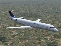 Screenshot of Canadair CRJ700-ER in flight.