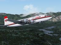 Screenshot of Conair DC-6 Air Tanker in flight.