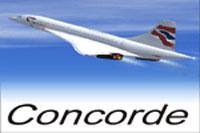 Screenshot of Concorde in flight.