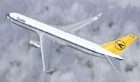 Screenshot of Condor Boeing 767-300ER in flight.
