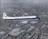 Screenshot of Condor Viscount 814 in flight.