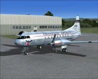 Screenshot of Continental Convair CV240 on the ground.