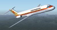 Screenshot of Continental Douglas DC-9-30 in flight.
