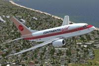 Screenshot of Continental West Boeing 737-600 in flight.